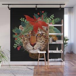 Leopard in December Wall Mural