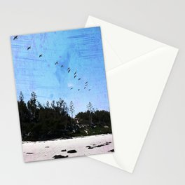 Birds on Blue Stationery Cards