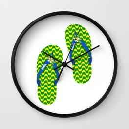 Brazilian flip flops Wall Clock