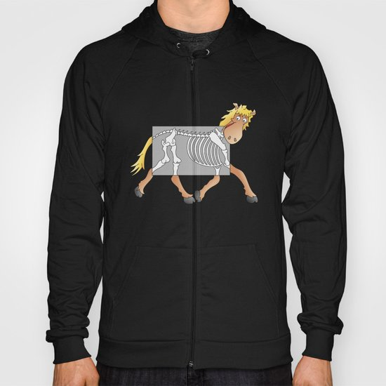 Horse Xray Cartoon Hoody