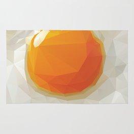 Fried Egg Polygon Art Rug