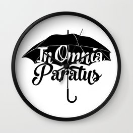 Gilmore Girls In Omnia Paratus Wall Clock