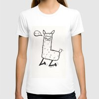 llama T-shirts featuring llama by justine