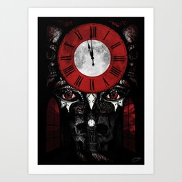 """The Masque of the Red Death"" - Edgar Allan Poe Series Art Print"