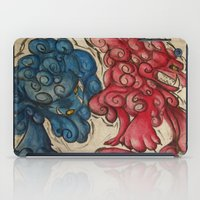 foo fighters iPad Cases featuring Foo Dogs by Easley