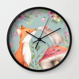 Fox & mouse Wall Clock