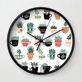 Windowsill Garden Wall Clock