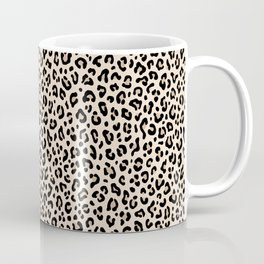 BLACK and WHITE LEOPARD PRINT – Ecru | Collection : Leopard spots – Punk Rock Animal Prints. Coffee Mug
