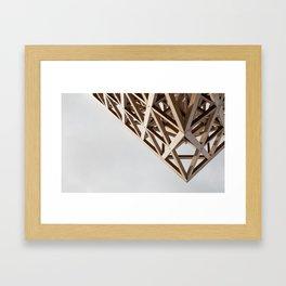 Struktur Holz Framed Art Print