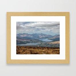The Great Glen Scotland Framed Art Print