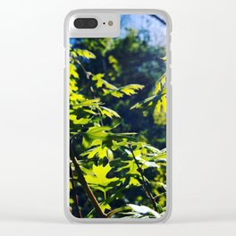 sunshine through leaves Clear iPhone Case