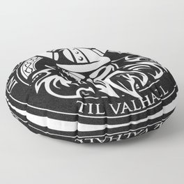 In Odin we trust - The king of Valhalla Floor Pillow