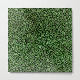 Vintage Floral Ivy Green Metal Print