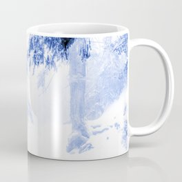 Icy forest in inky blue Coffee Mug