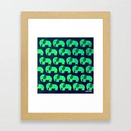 fluorescent elephant ecopop Framed Art Print