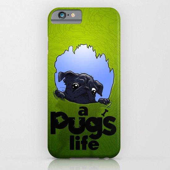 a Pug's life (dark) iPhone & iPod Case