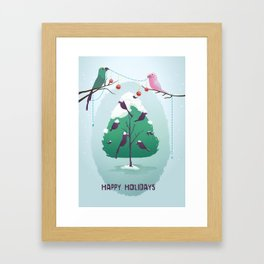 Happy Holidays - A Parrots Christmas  Framed Art Print