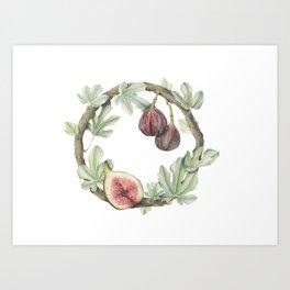 Fig Wreath Art Print