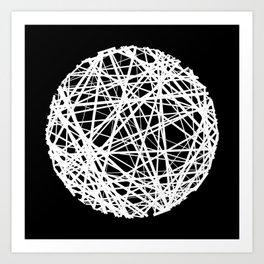 Circle sketch Art Print