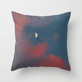 Cloud Bleeding Mars for Moon Throw Pillow
