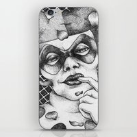 harley iPhone & iPod Skins featuring Harley by Lesley Tang