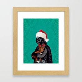 Vader Christmas Framed Art Print