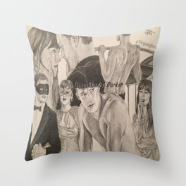 "Poster ""Fifty Shades Darker"" Throw Pillow"