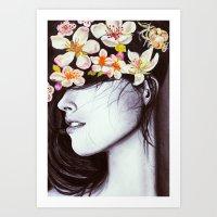 hair garden Art Print