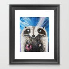 Raccoon Framed Art Print