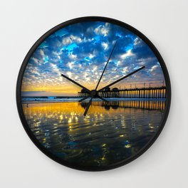 Huntington Beach Sunset   12/17/13   Wall Clock