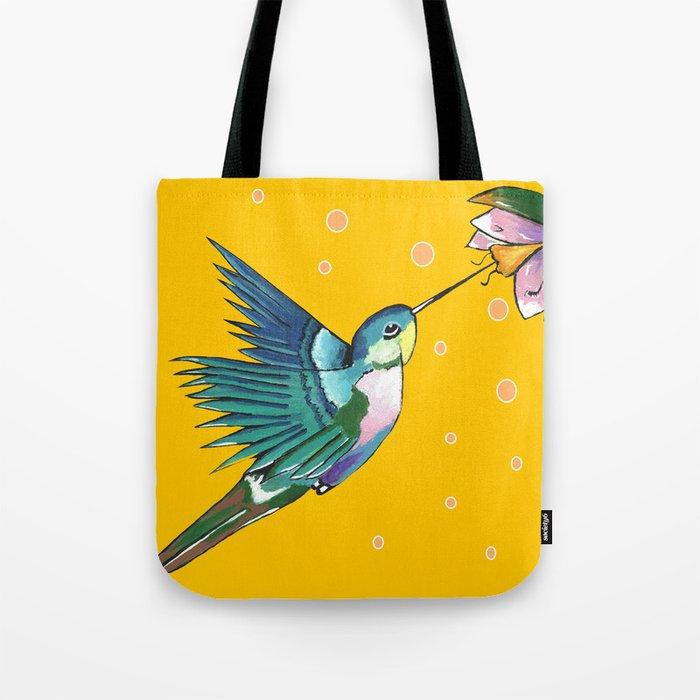 Hummingbird Yellow Tote Bag