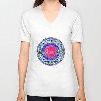 arabic V-neck T-shirts featuring Arabic colors  by MinaSparklina