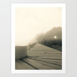 A Foggy Morning on Albemarle Sound Art Print