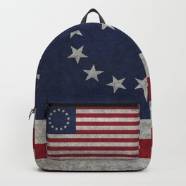 Thirteen point USA grungy flag Backpack