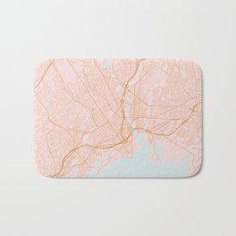 Bridgeport map, Connecticut Bath Mat