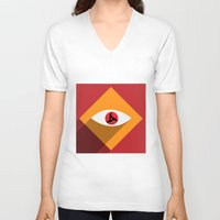 sasuke V-neck T-shirts featuring Sharingan Illusion by Asif Mallik