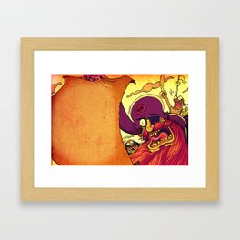 Pirate invitations!! Framed Art Print