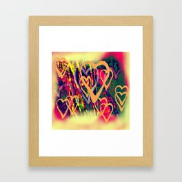 Street love Framed Art Print