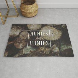 Homies Help Homies Rug
