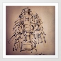 building Art Prints featuring BUILDING by cegraph
