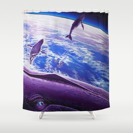 Cosmic Migration Shower Curtain