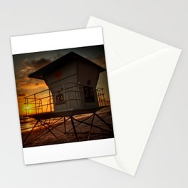 Lifeguard Station at Sunset Stationery Cards