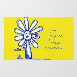 """""""Joy Inspires All Other Emotions"""" Flowerkid Rug"""