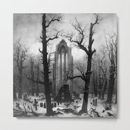 Caspar David Friedrich's Monastery Graveyard in the Snow Metal Print