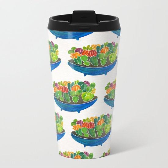 Succulents Metal Travel Mug
