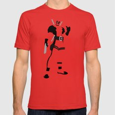 Merc with a mouth (Deadpool) Red MEDIUM Mens Fitted Tee