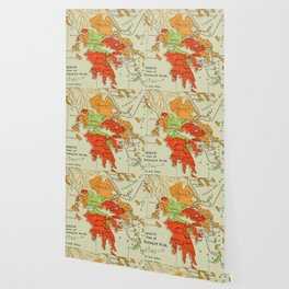 Vintage Map of Ancient Greece (1904) Wallpaper