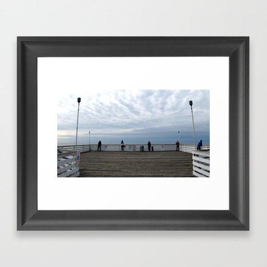 "untitled (Crystal Pier, San Diego) ""A SAFE PLACE"" series Framed Art Print"