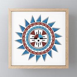Southwest Native American Art Mandala Framed Mini Art Print