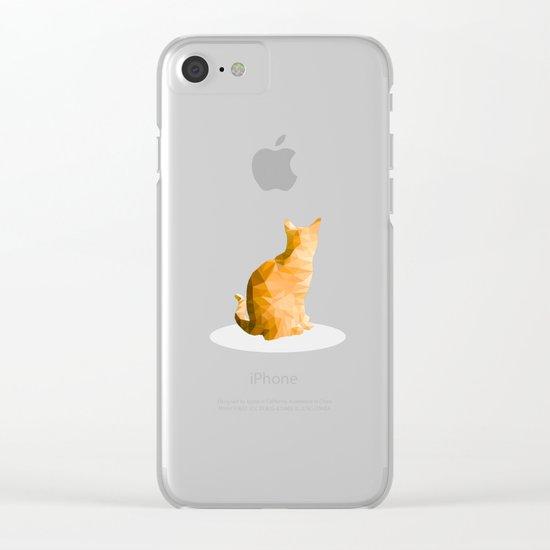 back cat Clear iPhone Case